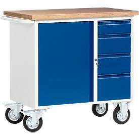 Fahrbare Werkbank mit 4 Schubladen