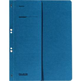 FALKEN Ösenhefter, für DIN-A4, halber Deckel, 1 Stück, blau