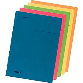 FALKEN Schnellhefter, DIN A4, Karton, 10 Stück, farblich sortiert