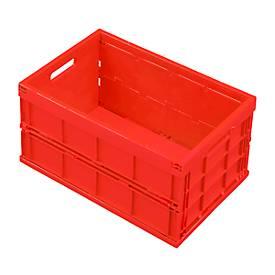 Faltbox im EURO-Maß 532-40, ohne Deckel, 40 l, geschlossen, rot
