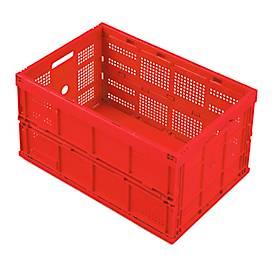 Faltbox im EURO-Maß FK 643-61, ohne Deckel, 60 l, rot
