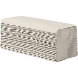 Falthandtücher, 1-lagig, Zick-Zack-Falzung, naturweiß, 5000 Blatt