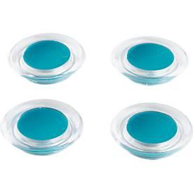 Farb-Design-Magnete, 4 Stück, aus transparentem Kunststoff