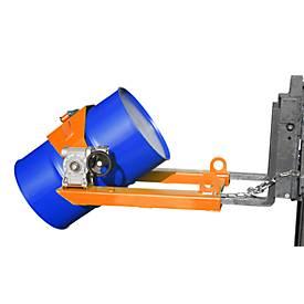 Fasskipper FLEX, mit Handkurbel, orange lackiert
