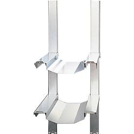 Fassregal, für Gefahrstoffdepot Safe Master, 2 x 50 oder 60 L Fässer, halbe Breite