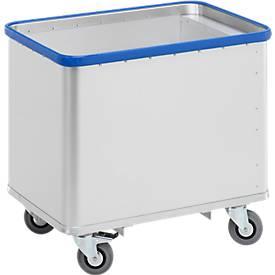 Federbodenwagen aus eloxiertem Aluminium, 180 oder 380 Liter