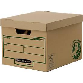 Fellowes Archivbox Bankers Box® Earth, Heavy Duty, mit Klappe, 10 Stück
