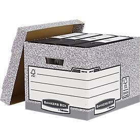 Fellowes Archivbox Bankers Box®, mit Klappdeckel, bis 12 kg belastbar, 10 Stück