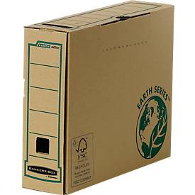 Fellowes Archivschachtel Bankers Box® Earth, DIN A4, Rückenbreite 80 mm, 20 St