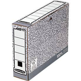 Fellowes Archivschachtel Bankers Box®, f. DIN A4, Füllhöhe 80 o. 100 mm, 10 Stück