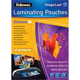 Fellowes® lamineerhoezen,voor A4 formaat, 80 micron, pak van 100 stuks