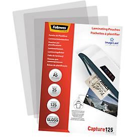 Fellowes Laminierfolie ImageLast, glänzend, DIN A5, Stärke 125 Mikron, 25 Stück
