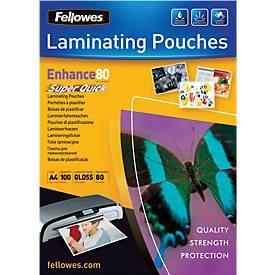 Fellowes Laminiertaschen, Quick-Folie, DIN A4, 100 Stück