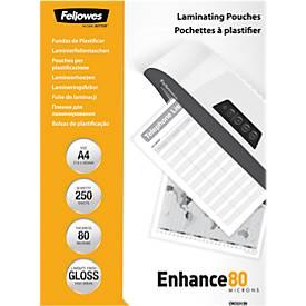 Fellowes® Pochettes de plastification, A4, value pack de 250 pièces