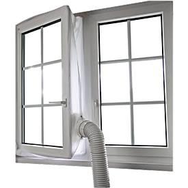 Fensterkit-Abluftzubehör, für Fenster bis 4 m, wasserabweisend, bis 40° waschbar, inkl. Klettband, Polyester, weiß