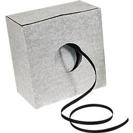 Feuillard plastique en carton de distribution