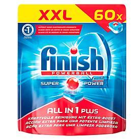 Finish Spülmaschinentabs All in 1 Plus, XXL Pack, 60 Tabs