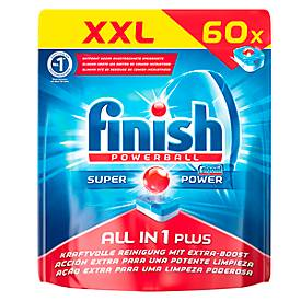 Finish Spülmaschinentabs All in 1 Plus, XXL Pack, 60 Tabs