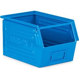 Fix-magazijnbak,LF 14/7-3, gr. 3, plaatstaal, 10 l - blauw
