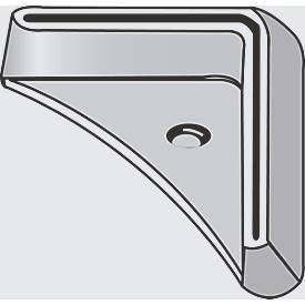 FIX-voetplaten voor profiel 1, L-vormig, kunststof, grijs