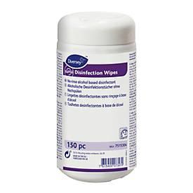 Flächen-Desinfektionstücher Suma Disinfection wipes, schnell wirksam/trocknend, 150 St. in Spender