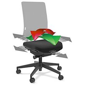 Flexzitting, voor SSI Project bureaustoel, afsluitbaar, voor actief zittend verkeer van het zitvlak