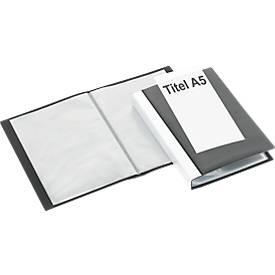 FolderSys Präsentations-Sichtbuch mit Fronttasche, für DIN A5, 20 Hüllen, schwarz