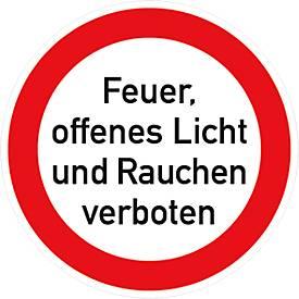 """Folie """"Feuer, offenes Licht und Rauchen verboten"""""""