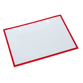 Formular-/Dokumententasche, magnethaftend, 10 Stück, rot