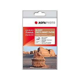 Fotopapier AgfaPhoto Bronze Premium Glossy, 100 Blatt, 10 x 15 cm, hochglänzend