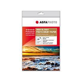 Fotopapier AgfaPhoto Gold Professional High Glossy, 20 Blatt, DIN A4, hochglänzend