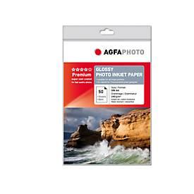 Fotopapier AgfaPhoto Silver Premium Glossy, 50 Blatt, DIN A4, hochglänzend