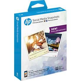 Fotopapier HP Social Media Snapshot, Format 10 x 13 cm, halbglänzend, 25 Blatt