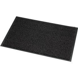 Fußmatte Mikrofaser, B 600 x L 900 mm, waschbar bei 30 Grad, grau