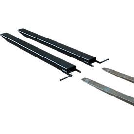 Gabelverlängerung für Flurförderzeuge, offene Ausführung, L 1800 x B 80 x 40 mm, schwarz