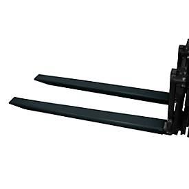 Bauer Gabelverlängerung, L 1600 x B 100 x 50 mm, schwarz