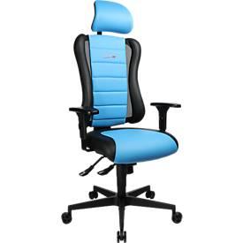 Gaming Stuhl Sitness Racer RS, 3D-Sitzfläche, Synchronmechanik, Sitzzeit 8 Std.