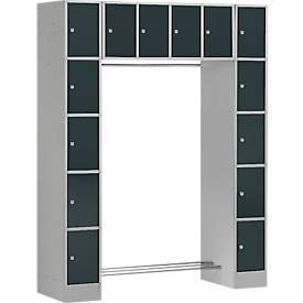 Garderobe-vakkenkast SE 5, basiseenheid, zilvergrijs/antraciet