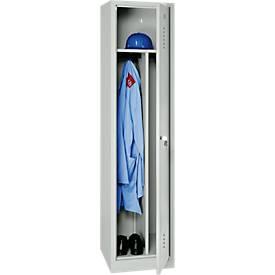Garderobenschrank 1 Tür lichtgrau