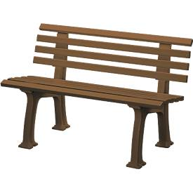 Gartenbank aus Kunststoff, 2-Sitzer