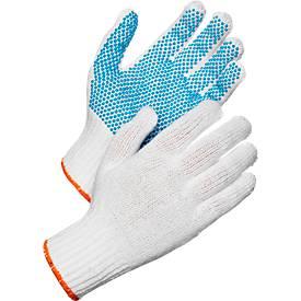 Gebreide handschoenen met burls Worksafe L72-729, CE Cat 1, warmte-isolatie, polyester, wit, maat 10, 12 paar, gebreide handschoenen met burl's.