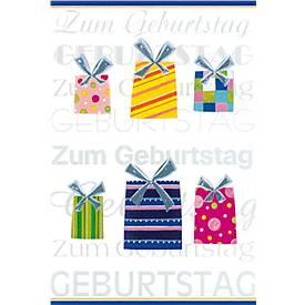 """Geburtstagskarte """"Präsent"""""""