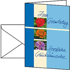 Geburtstagskarte Trio, A6, 10 Stück