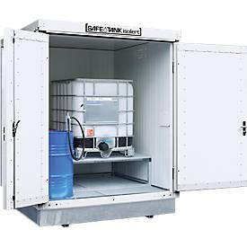 Gefahrstoffcontainer SAFE Tank 400 KTC, isoliert, RAL 9002 grauweiß, B 2100 x T 2170 x H 2650 mm