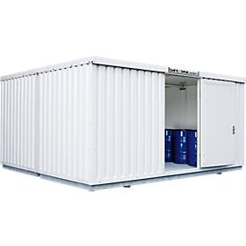 Gefahrstoffcontainer SAFE Tank 4000, isoliert, RAL 9002 grauweiß, B 5080 x T 4340 x H 2520 mm