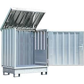 Gefahrstoffdepot Safe Master, Typ SM 2, Kapazität 2 x 200 l Fässer stehend, WGK 1-3
