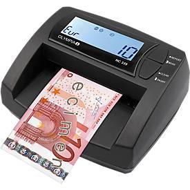Geldscheinprüfer Olympia NC 335, Gemischt-Notenzähler, EUR, Netz- oder Akkubetrieb, inkl. Netzteil, schwarz