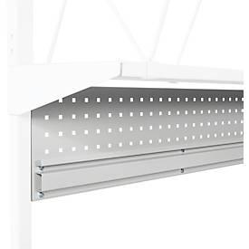 Geperforeerde plaat serie TPB, staal, met kokerprofiel, voor inpaktafels serie TPB, tafelbreedte 1500 mm.
