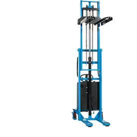 Gerbeur haute levée électrique HanseLifter® à voie large E-SDJ1025BS, levage de 80 à 2500 mm,