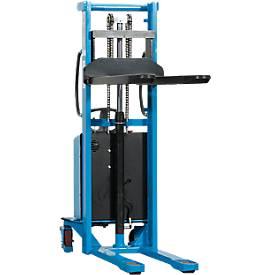 Gerbeur haute levée électrique HanseLifter® à voie large E-SDJ1516BS, levage de 80 à 1600 mm,